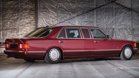This 1990 Mercedes-Benz 560 SEL has a murky history, and not many kilometers on the clock.