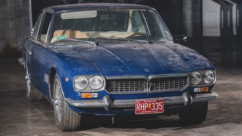This 1970 Maserati Mexico 4.7 Coupe has been in storage since 1987.