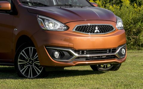 The Mirage pairs a thrifty engine with a continuously variable transmission for gas savings.