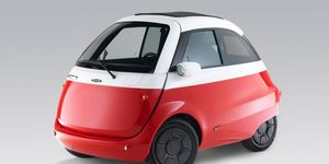 The Microlino will offer 133 miles of range on a full charge in top trim. Two battery capacity versions are planned.