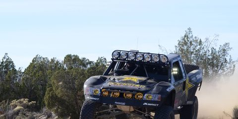 Rob MacCachren of Las Vegas brings his winning Ford home at the Baja 1000.