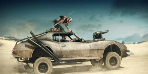 """A Corvette is one of 150 vehicles to drive on """"Fury Road."""""""