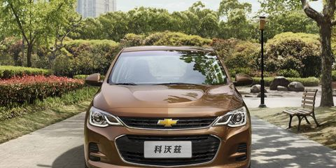GM operates a joint venture in China, and offers an extended lineup of Chevrolet, Buick and Cadillac vehicles. The 2016 Cavalier is pictured above.