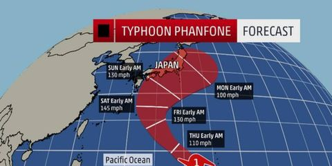 A typhoon could threaten the Japanese Grand Prix Formula One race.