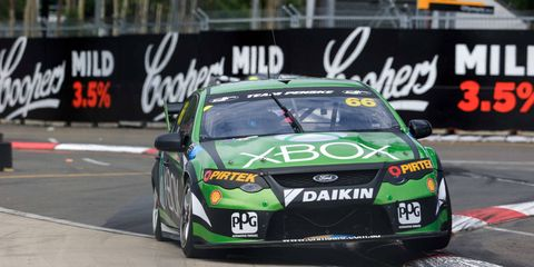 Former NASCAR Sprint Cup Series driver Marco Ambrose finished 20th and 21st in his first two races back in the Australian V8 Supercars series.