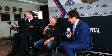 Sam Schmidt and Mario Andretti will race each other at Indianapolis in semi-autonomous Corvettes