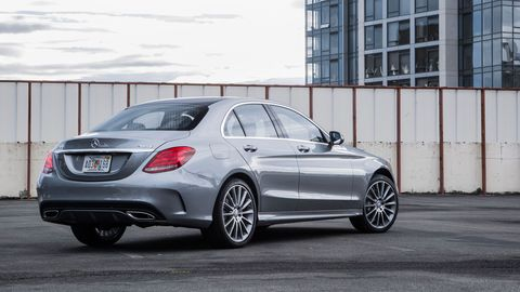 The 2019 Mercedes-Benz C300 comes with a turbocharged four making 255 hp and 273 lb-ft of torque.