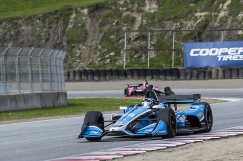 A total of 21 cars took to the track in pre-season testing at WeatherTech Raceway Laguna Seca Friday, Feb 8. Max Chilton was quickest.