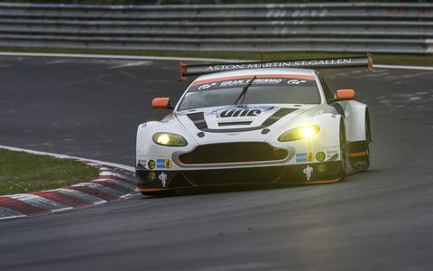 Aston Martin celebrated its 10th year participating in the Nurburgring 24 hour race in 2015