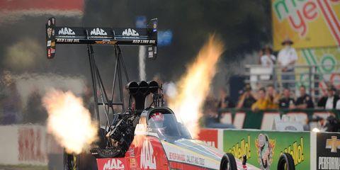 Doug Kalitta won Sunday's NHRA Top Fuel event in Georgia.