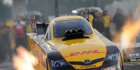 Del Worsham qualified at the top of the Funny Car field on Friday in Seattle.