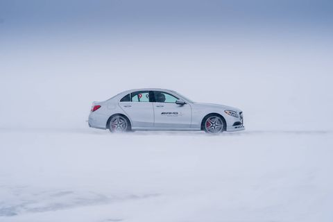 AMG's Winter Driving Academy transforms Canada's frozen Lake Winnipeg into the White Hell, a 5.3-mile ice track where drift-happy souls can learn to pilot high-performance Mercedes-AMG machines in a low-traction (and low-temperature) environment.