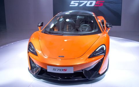 The McLaren 570S at the New York auto show.