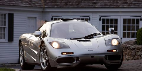 This 1995 McLaren F1 was the first car to be federalized to U.S. standards but has since been converted back.