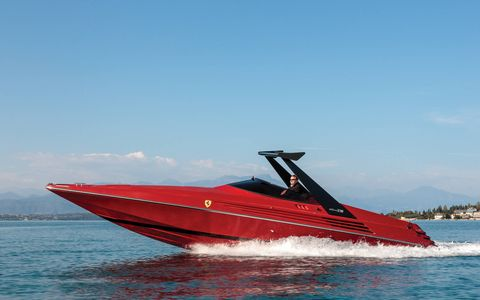 The 1990 Riva Ferrari 32 is a rare collaboration between two of Italy's most exclusive and renowned personal transportation companies. It can be yours at the upcoming RM Sotheby's Monaco auction.