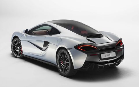 The McLaren 570GT gets a softer suspension and easier steering for better manners on the public roads.