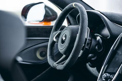 "Interior details on the McLaren 600LT ""longtail"""