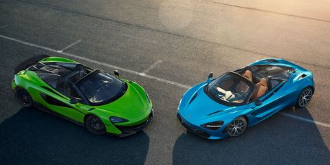 The 2020 McLaren 720S Spider looks as good standing still as it does at speed.