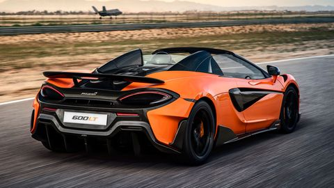 The McLaren 600LT Spider is offered in a rainbow of colors.
