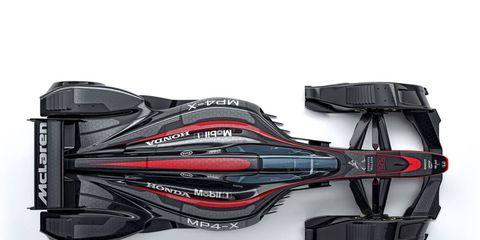 Check out photos of McLaren's MP4-X concept F1 car.