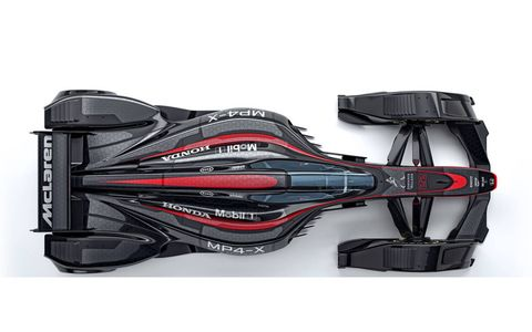 Check out photos of McLaren's MP4-X concept F1 car.