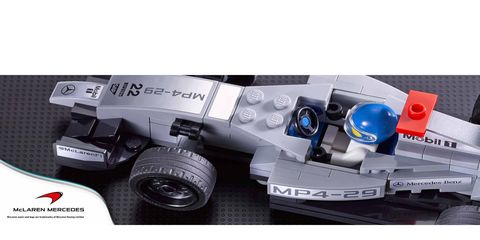This is a teaser photo of the McLaren Mercedes LEGO Formula One car. There is no doubt these sets will be sought after.