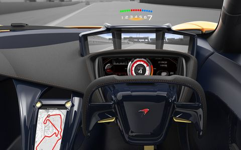 The screen at driver's elbow reverts from track diagram to infotainment navigator when you go from track mode to normal mode.