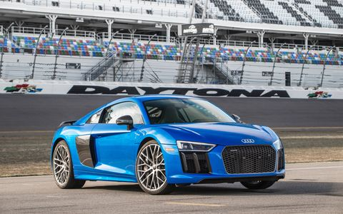 The 2017 Audi R8 V10 Plus is surprisingly compliant over the normal bumps you'll run into on your daily commute.