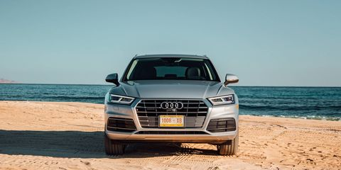 Under the hood is Audi's sweet 2.0-liter TFSI four-cylinder with 252 hp and 273-lb.-ft. of torque, it comes paired to a seven-speed dual-clutch transmission. Quattro all-wheel drive is standard.