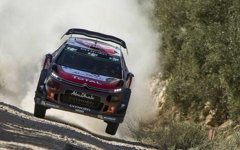 Sights from the World Rally Championship Rally de España, Sunday Oct. 8, 2017