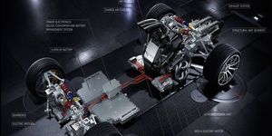 Here's a diagram of the powertrain layout in the Project One.