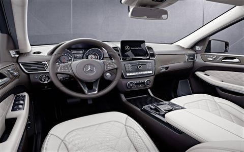 The Mercedes-Benz GLS Grand Edition comes with quilted leather seats and open-pore ash trim.