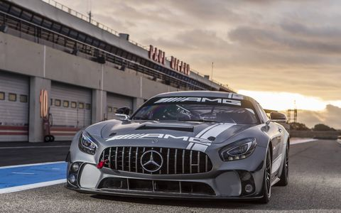 Mercedes AMG GT4 Racecar At Circuit Paul Ricard