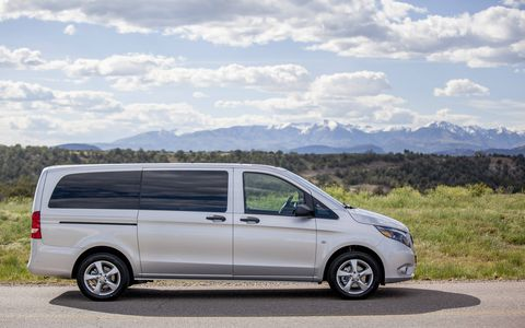 The Metris passenger van has seating for up to 7, a payload of 1,874 lbs and a towing capacity of 5,000 lbs.
