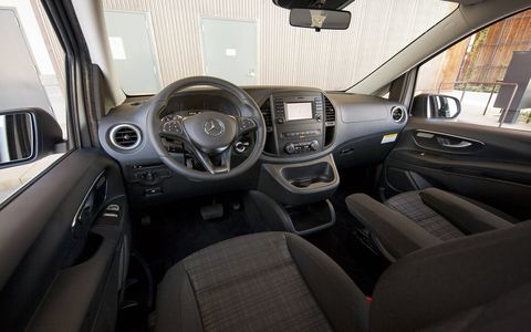 As for tech and safety, the Metris comes with start/stop, blind spot assist, collision prevention assist, lane keeping assist, active parking assist and a rear view camera.
