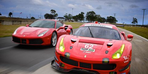 The Ferrari 488 GTB has been transformed into a beautiful and powerful 488 GTE racer.
