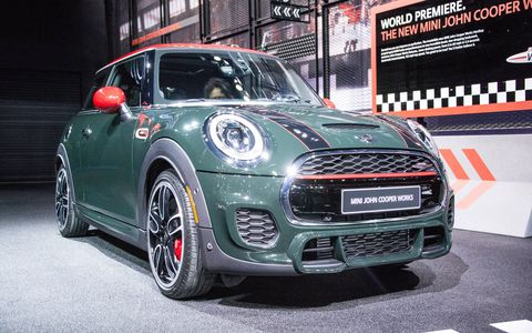The new Cooper Hardtop has been given a sportier front fascia, as part of JCW trim.
