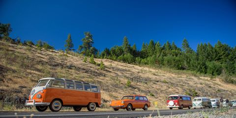 """Treffen is the German word for """"meet,"""" and for the last 18 years a company specializing in parts for air-cooled Volkswagens has held a Treffen that runs from Canada to Mexico for any and all air-cooled VWs that want to join in. """"For 10 miles or 10 days,"""" they say."""