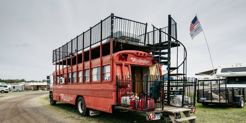 True fans say that do-it-yourself homes on wheels are the only way to go when it comes to NASCAR.