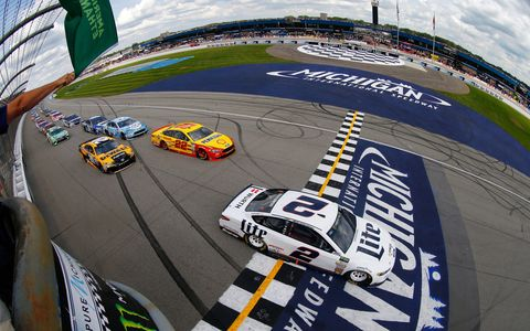 Sights from the Monster Energy NASCAR Cup Series race at Michigan International Speedway, Sunday August 13, 2017.