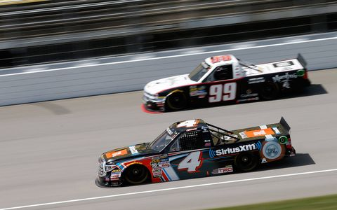 Sights from the NASCAR action at Michigan International Speedway, Saturday August 12, 2017.