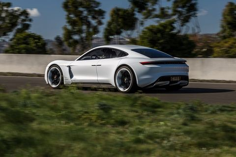 The Porsche Mission-E concept