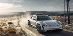 The concept's design features a sloping roof familiar from the Panamera Sport Turismo wagon.