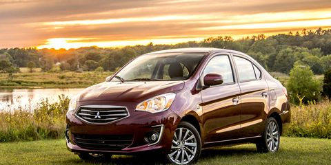 The Mirage is now available in sedan form, with a few updates inside and out.