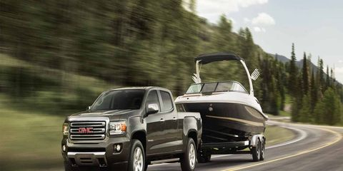 The all-new 2015 GMC Canyon is expected to deliver the segment's best horsepower, segment's best payload and segment's best maximum trailering rating.