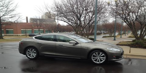 The new Tesla Model S 70D visits One Autoweek Tower.