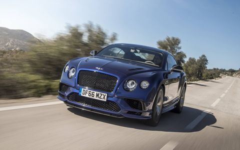 We drive the 2017 Bentley Continental Supersports coupe and convertible. Powered by a 700-hp, 750-lb-ft twin-turbocharged W12 and with top speeds of 209 and 205 mph, respectively, the new Supersports are the world's fastest four-seat coupes and convertibles.