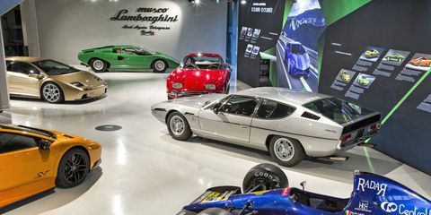 The Museo Lamborghini opened in 2000 next to the company's factory in Sant'Agata Bolognese, Italy.