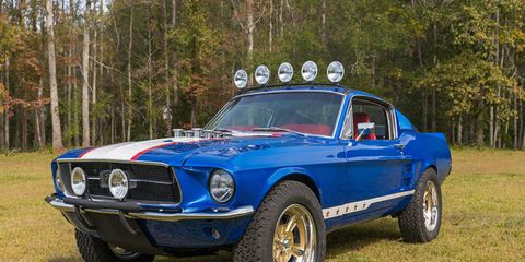 This radical rally-inspired 1967 Ford Mustang could be the next addition to your collection.