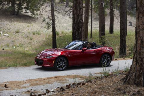 The 2019 Mazda Miata MX-5 makes 181 hp -- a 26 hp bump from the 2018 model.